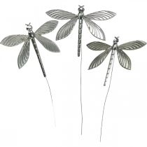 Spring decoration, decoration plug dragonfly, wedding decoration, summer, metal dragonfly 12pcs