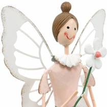 Spring fairy with flower, metal decoration, blossom fairy, spring, elf decoration