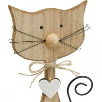 Spring figure, cat decoration, wooden figure, table decoration, country house decoration 2pcs