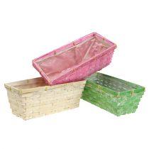 Spring baskets square multicolored 25x12x9cm 6pcs
