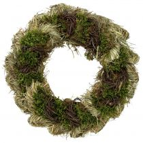 Spring wreath Ø30cm natural 1p