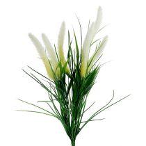 Foxtail grass green, white 63cm