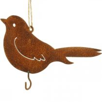 Metal bird to hang, feeding place, bird with stainless steel hook 21 × 13cm