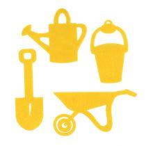 Garden Tools Felt Yellow 24pcs