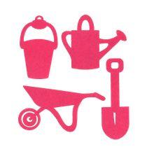 Garden Tools Felt Pink 24pcs