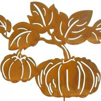 Garden plug pumpkin rust garden decoration autumn metal 57cm