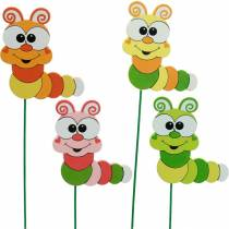 Garden plug caterpillar flower plug spring decoration summer decoration 16pcs