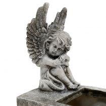 Planter with Angel Gray 17cm