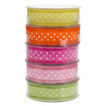 Gift ribbon, decorative ribbon with dots 25mm 20m