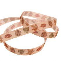 Gift ribbon autumn motif 15mm 20m