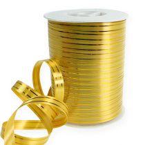 Splittband 2 gold stripes on gold 10mm 250m