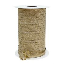 Gift ribbon with mica Gold 5mm 150m
