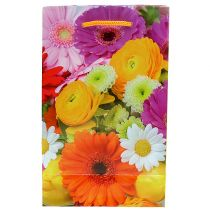Gift bag with flowers 12cm x19cm 1pc