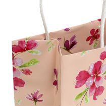 Gift bags with flowers 20cm x 11cm x 25cm 6pcs