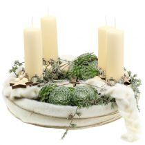 Pillar candle 120/50 cream 16pcs