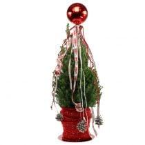 Christmas ball plastic small Ø14cm red 1p