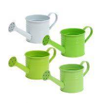 Watering can green mix Ø7.5cm H7.5cm 8pcs