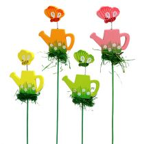 Watering can with butterfly sorted in color. 3,5cm 24pcs