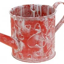 Watering can heart pattern, Mother's Day, metal can, Valentine's Day Ø10.5cm