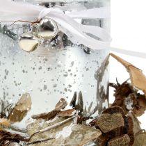 Tealight holder glass with wreath 10cm