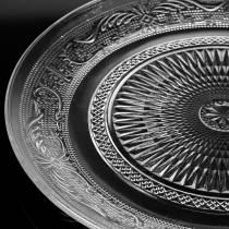 Glass plate antique Ø14,5cm 6pcs