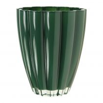 "Glass Vase ""Bloom"" Dark Green Ø14cm H17cm"