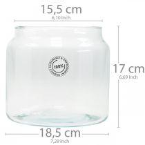 Glass lantern, decorative vase, candle decoration Ø18.5cm H21cm