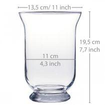 Glass vase clear Ø13.5cm H19.5cm glass decoration flower vase