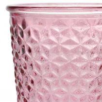 Candle cup, goblet glass, lantern, glass decoration Ø10cm H18.5cm