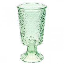 Glass lantern, cup with base, glass vessel Ø10cm H18.5cm