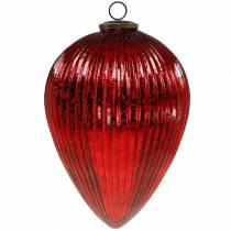 Christmas decoration for hanging glass spigot red giant 27cm