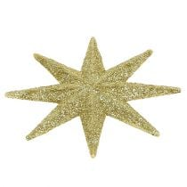 Glitter star gold Ø10cm 12pcs