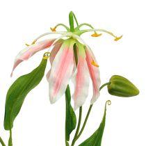 Gloriosa pink-white artificial 84cm 3pcs