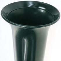 Grave vase dark green 31cm 5pcs