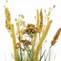 Grass bunch autumn decoration with yarrow 64cm