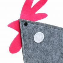 Decorative felt tap with dots gray, white, pink 30cm x 5cm H31.5cm Easter decoration, shop window