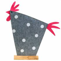 Decorative tap made of felt with dots gray, white, pink 57cm x 7cm H58.5cm window decoration