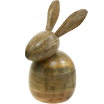 Sitting wooden bunny, decorative bunny, wooden decoration, Easter 18cm