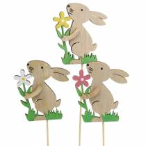 Beautiful wooden rabbit 9cm 12 pieces for bouquet decoration