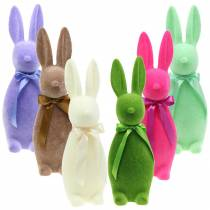 Bunny flocked 42cm Different colors