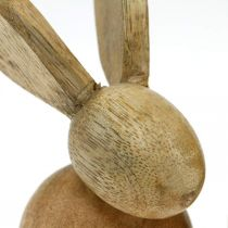 Easter decoration bunny wood decoration sitting Easter bunny nature 12cm 4pcs
