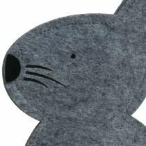 Rabbit Sitting Felt Gray 27cm x 6cm H40.5cm