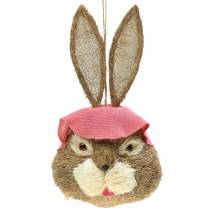 Easter Decoration Bunny Head for Hanging Straw H51cm