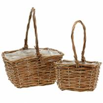Handle basket nature 24cm / 16cm 2pcs
