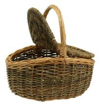 Picnic basket willow 40cm x 30 cm H20cm