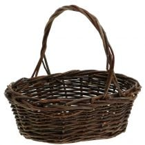 Handle basket willow oval 28cm x 20cm