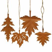 Autumn Leaves rust patina for hanging 13cm 4pcs