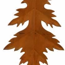 Autumn leaves patina to hang 13cm 4pcs
