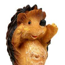 Autumn decoration hedgehog mix 6cm Brown 6pcs