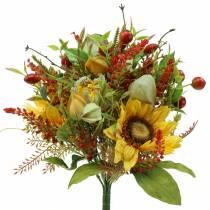 Bouquet of autumn sunflowers Ø30cm